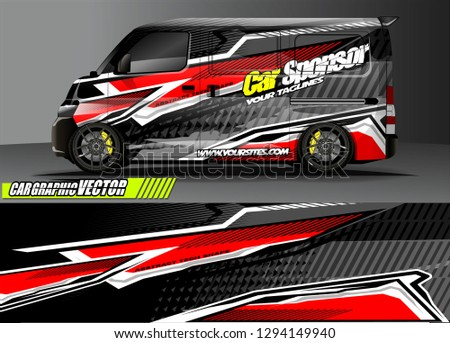 0d1e7725d7 cargo van livery graphic vector. abstract race style background design for vehicle  vinyl wrap and
