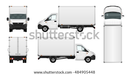 cargo van vector illustration