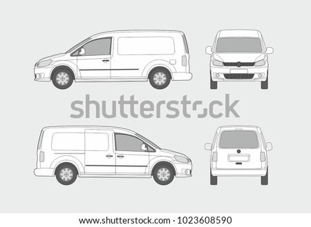 Cargo van vector template Foto stock ©