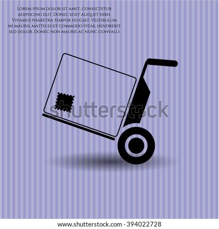 Cargo vector icon or symbol