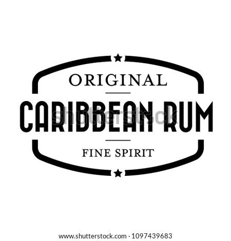 Caribbean Rum vintage stamp