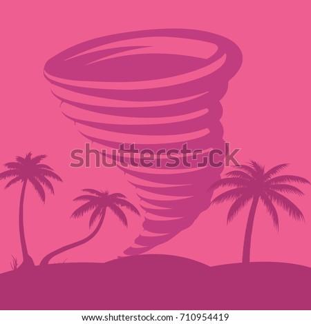 caribbean tornado against the
