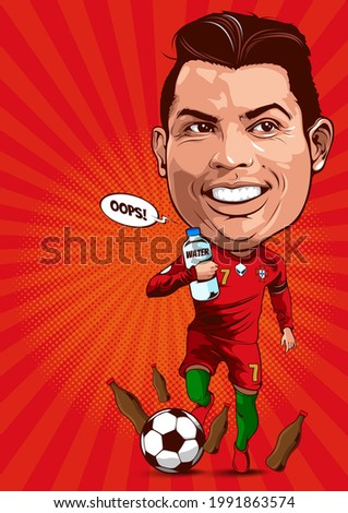 caricature illustration of