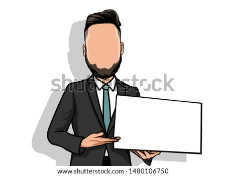 caricature of portraits, male illustrations being percentage.