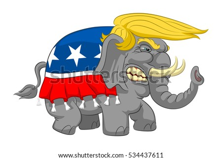 caricature wicked elephant with
