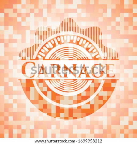 carnage abstract orange mosaic