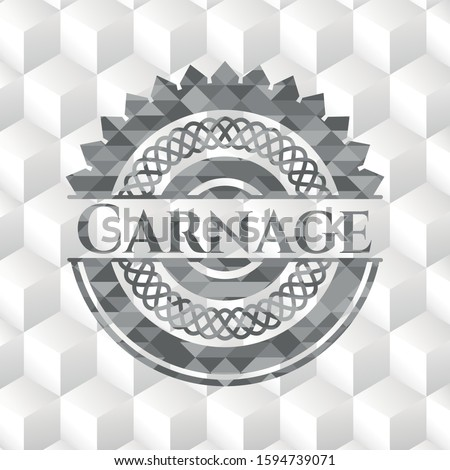 carnage grey badge with