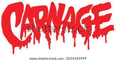 Carnage logo Vector High Resolution Сток-фото ©
