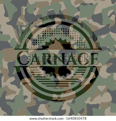 carnage on camo pattern vector