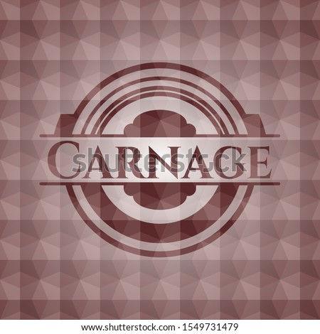 carnage red emblem with