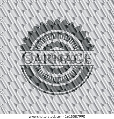 carnage silver emblem or badge