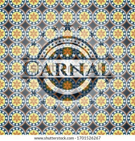 Carnal arabic badge. Arabesque decoration. Сток-фото ©