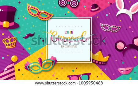 carnaval funfair card with