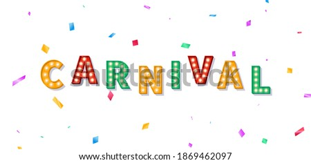 carnival banner with marquee 3d