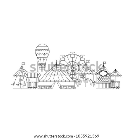 carnival circus funfair amusement enjoyment park