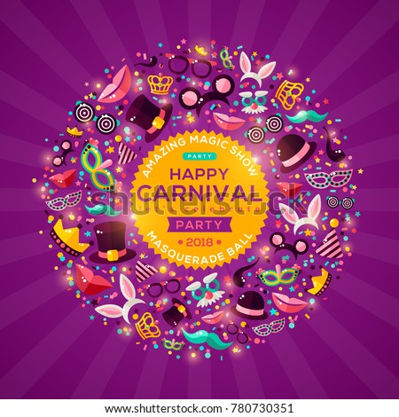 carnival concept banner with...
