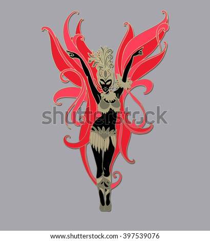 carnival dancer isolated
