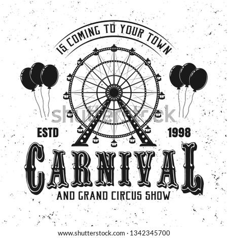 carnival funfair and ferris