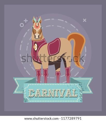 carnival horse circus show decoration retro - Shutterstock ID 1177289791