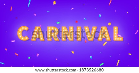 carnival marquee 3d text