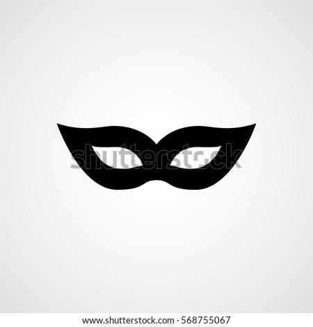 carnival mask black silhouette