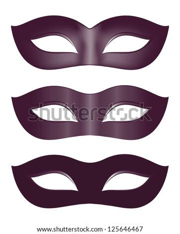 Carnival masks in black