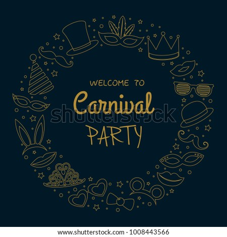 carnival party   poster with