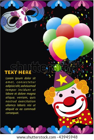 Carnival vector design on black bacground