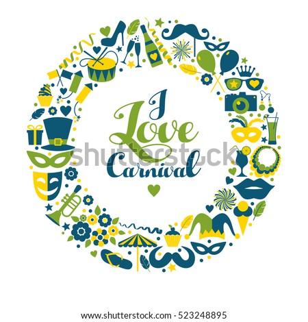 carnival vector illustration of