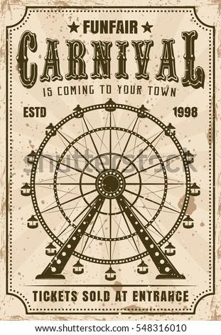 carnival vector invitation...