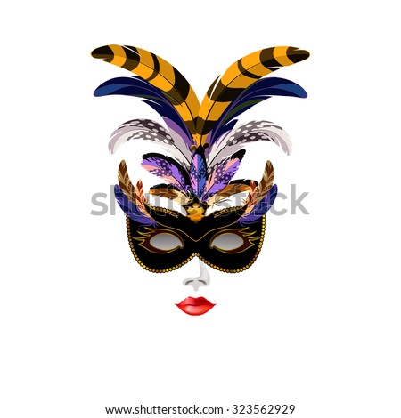carnival venetian black mask