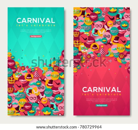 carnival vertical banners set...