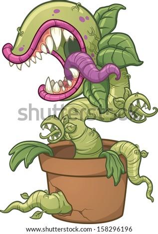 carnivorous plant vector clip