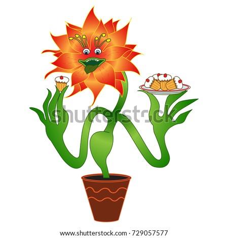 carnivorous vegetarian flower
