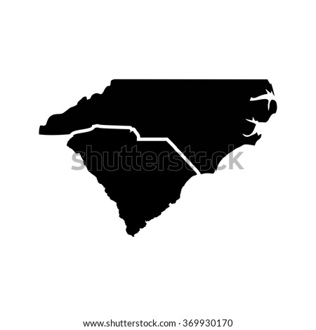 carolina map logo vector.