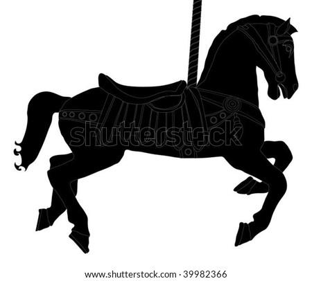 Carousel Horse (Silhouette)