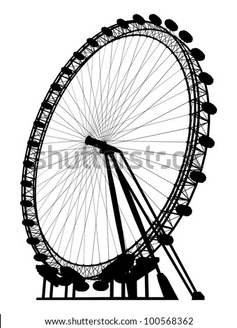 carousel silhouette vector 19