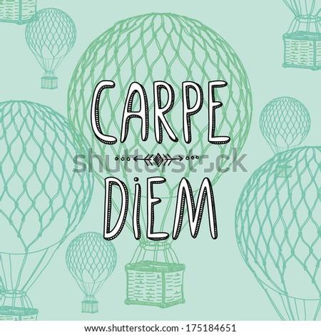 carpe diem hand drawing letters