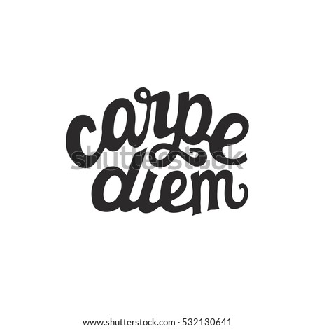 carpe diem hand drawn