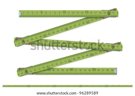 carpenter's measure - vector illustration