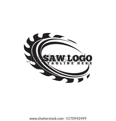 Carpentry Saw logo vector template  Сток-фото ©
