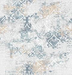 carpet runner pattern grey and blue decorative