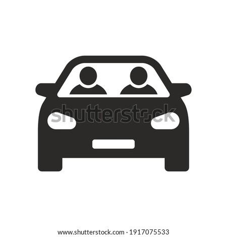 carpool icon car sharing road