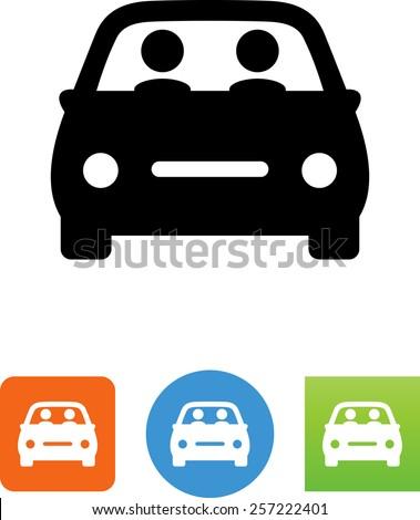 carpool   two people riding in