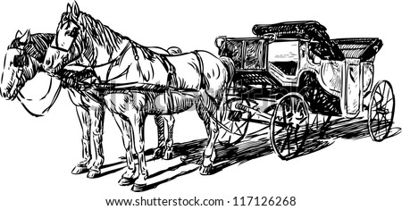 carriage with horses