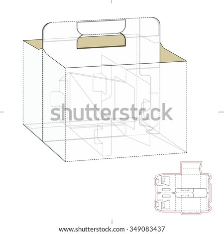 Carrier Box With Die Cut Template