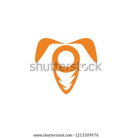 carrot and rabbit vector logo