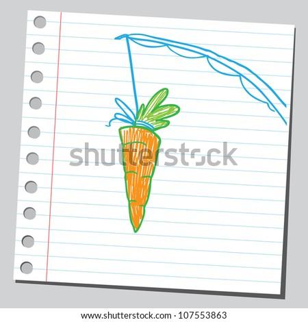 Carrot on fishing stick