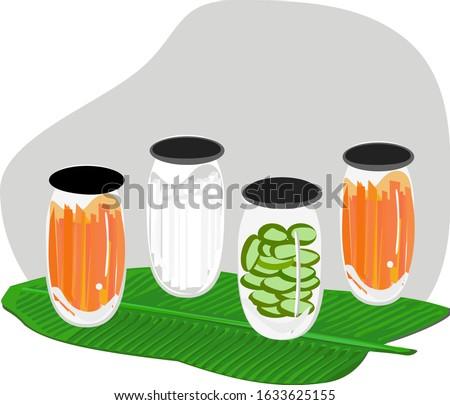 carrot pickles  radishes