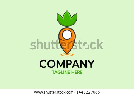 Healthy vegan with a carrot logo vector - Download Free